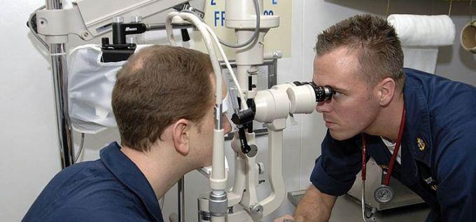 Un examen ophtalmologique