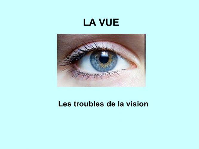 Les troubles visuels