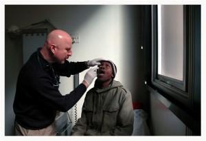 Tuberculose massive de la cornée