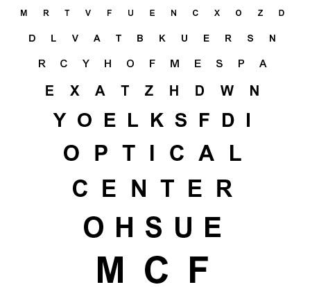 Une acuité visuelle